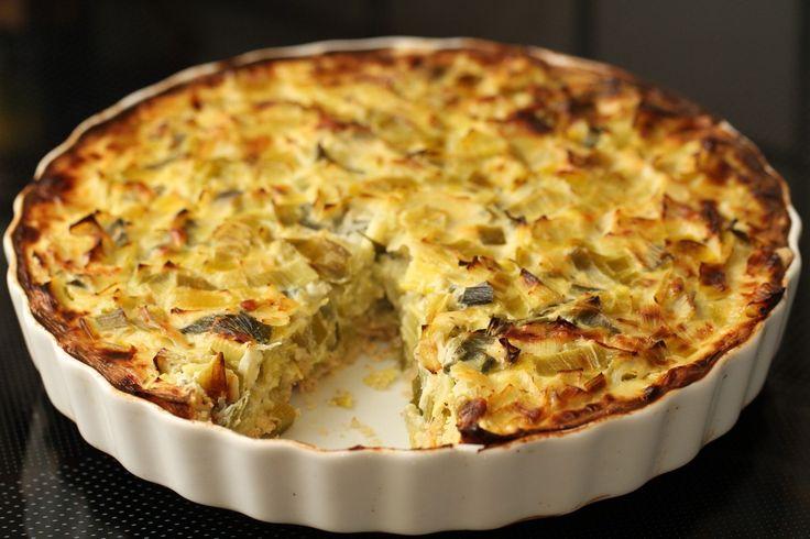 Øjvinds porretærte med ost og hvidløg | Dansk Vegetarforening