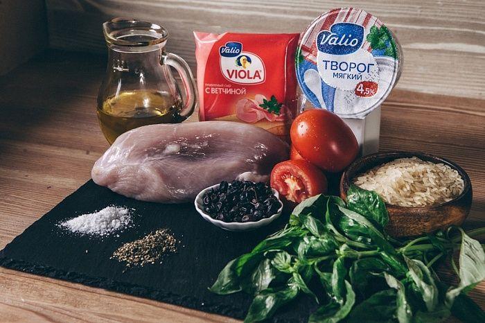 Кордон-блю из индейки с отварным рисом - пошаговый рецепт приготовления с фото