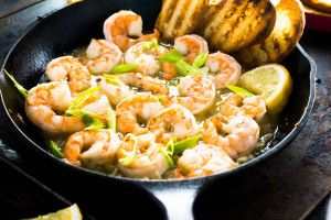 Easy Spicy Garlic Shrimp - Girl and the Kitchen