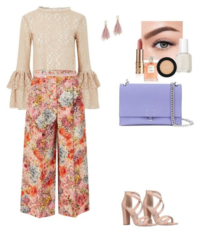 """""""Ooooooh"""" by skylarmuffin on Polyvore featuring Lace & Beads, Valentino, Lizzie Fortunato, Jil Sander, Morphe, Essie and Revlon"""