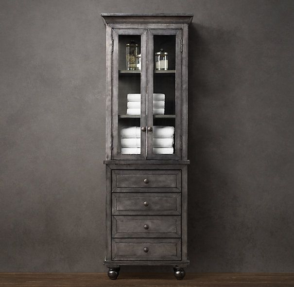 154 best images about for the lack of closets on pinterest for Restoration hardware bathroom cabinets