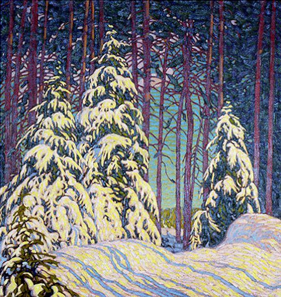 Winter Sunrise c.1915 by Lawren Harris, Group of Seven