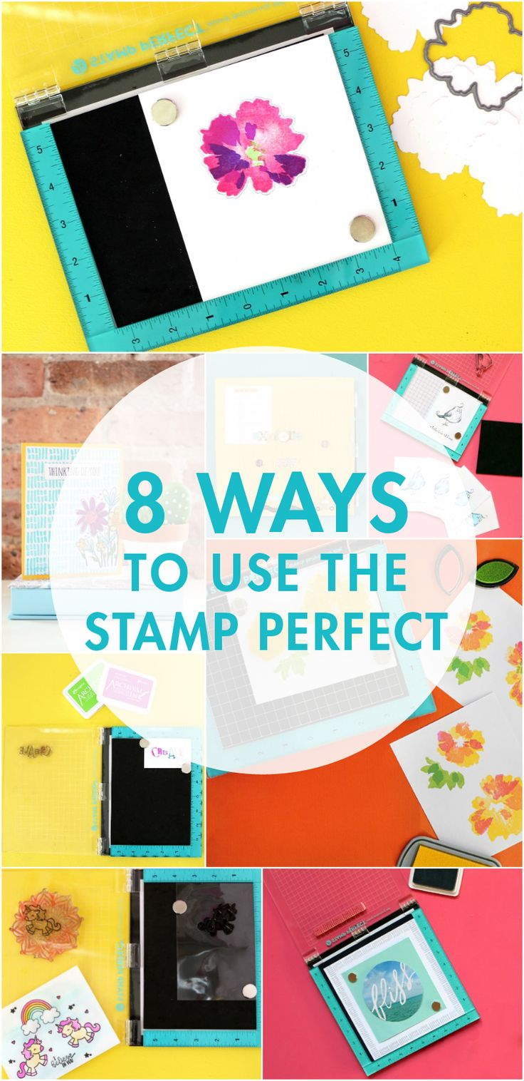 Get perfect stamping results every single time with the Hampton Art Stamp Perfect!  Here are 8 ways to use this amazing stamping tool!