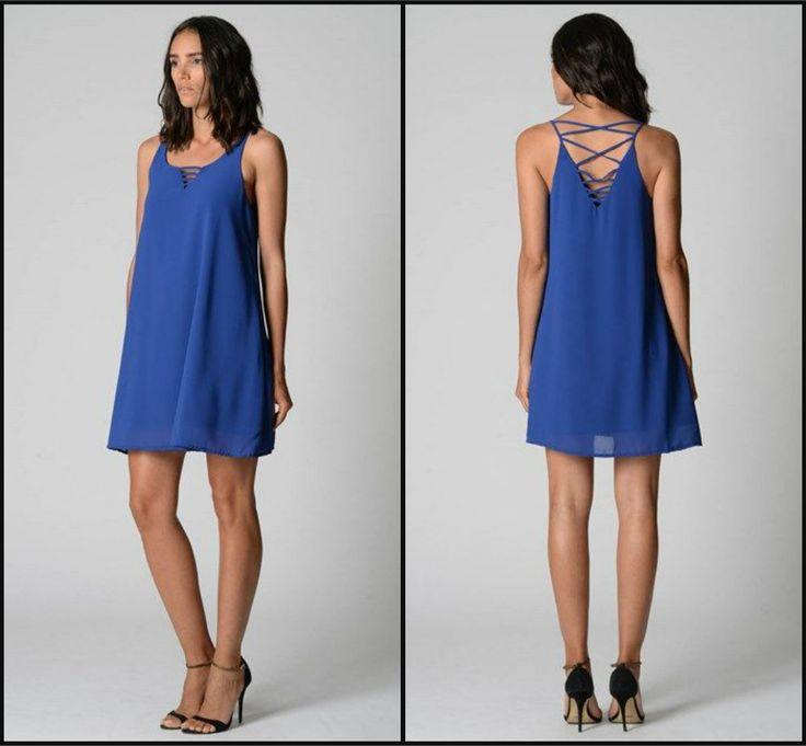 Cobalt Blue Chiffon Dress