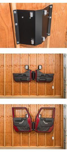Quadratec Door Storage Hanger http://www.quadratec.com/products/12020_5000_07.htm