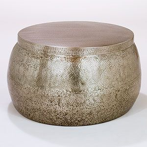 Cala Hammered Coffee Table World Market - top opens for storage