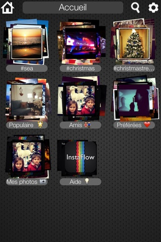 InstaFlow lets you explore Instagram photos in an intuitive, diverting and innovative way, using stacks of photos you can infinitely expand with a tap or shrink down with a pinch.