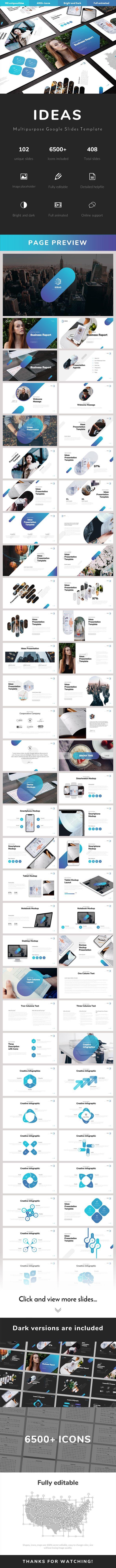 Ideas Multipurpose Google Slides Template #google slides #proposal Download : gr…