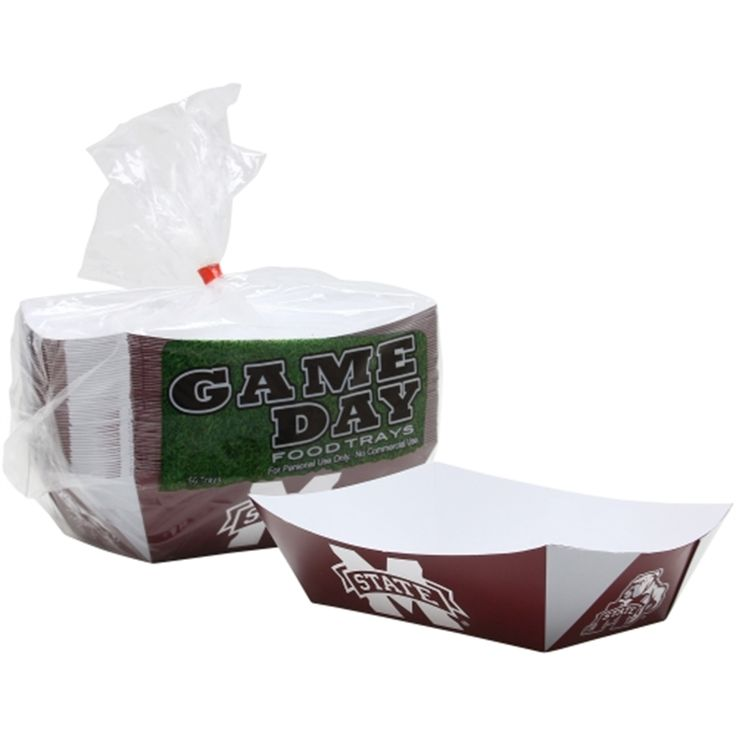 Mississippi State Bulldogs 50-Count Game Day Food Trays