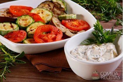 Receita de Legumes grelhados ao molho de ervas em receitas de legumes e…