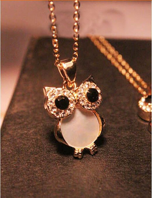 This is nice, check it out!   2015  Gold Filled Black & White Shell Crystal Owl Design Pendant Necklace - US $0.53 http://freealiexpress.com/products/2015-gold-filled-black-white-shell-crystal-owl-design-pendant-necklace-3/