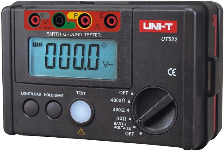 103.94$  Buy now - UNI-T UT522 Digital Earth Ground Resistance Tester Lightning Rod Lightning Detector Low tester  #magazine