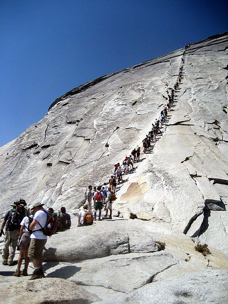 Half Dome: Bucketlist, Hiking Trail, Yosemite National Parks, Buckets Lists, Climbing Half, Danger Hiking, Places, Summer Camps, Half Domes Yosemite