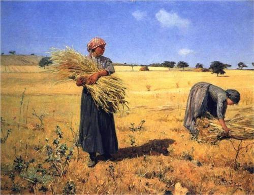 Colheita - Ceifeiras - António de Carvalho da Silva Porto  Realism, Naturalism  Portuguese, 1850-1893