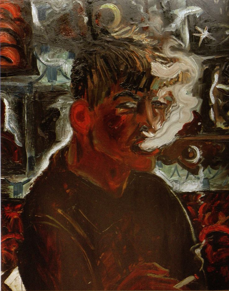 Otto Dix, Selbstbildnis als Raucher (Self Portrait as Smoker), 1913