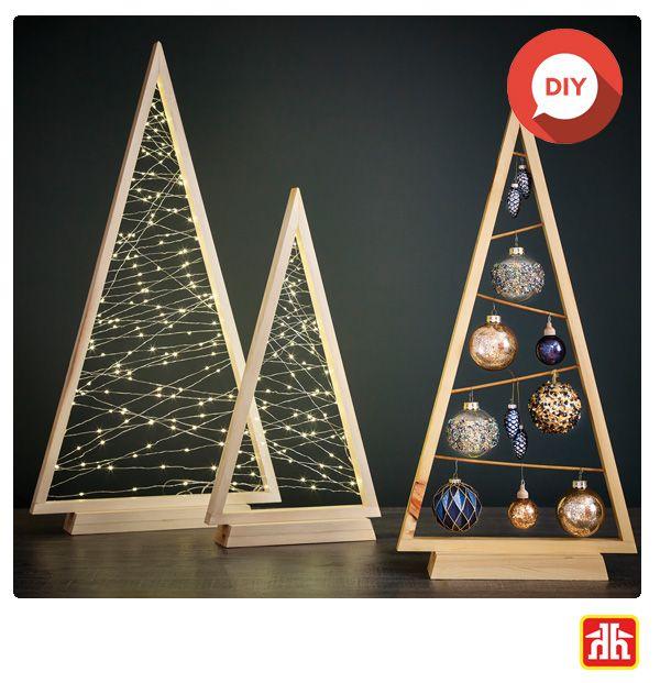 Create Stunning Tabletop Decor Christmas Wood Diy Christmas Tree Christmas Decor Diy