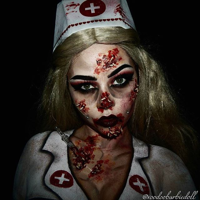 15 best Zombie nurse images on Pinterest | Halloween makeup ...