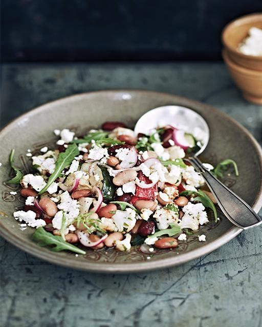 Warm Bean & Root Vegetable Salad | Sunflower seeds, Apple cider and ...
