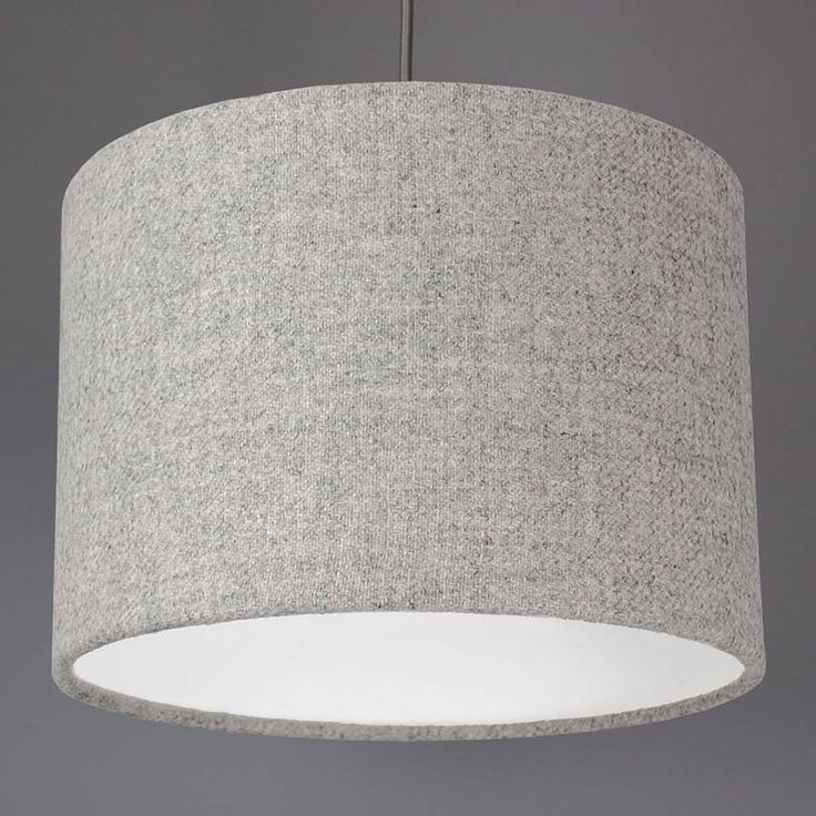 light grey harris tweed lampshade by quirk | notonthehighstreet.com