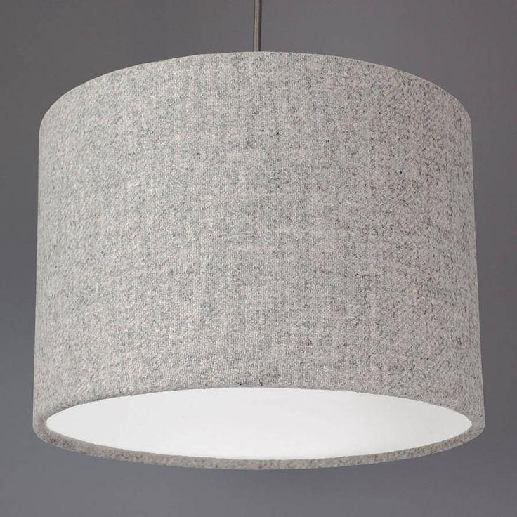 light grey harris tweed lampshade by quirk | notonthehighstreet.com