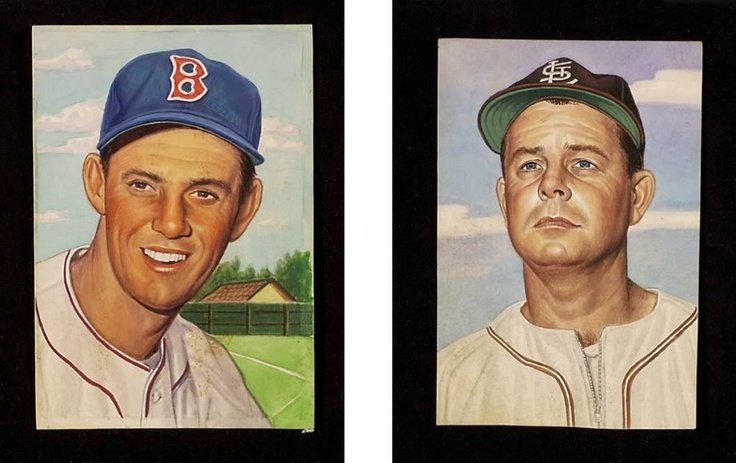 1953 original baseball card art
