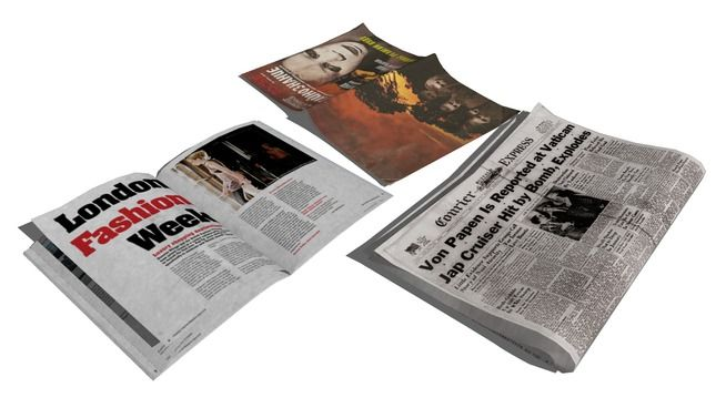 magazines, newspaper - 3D Warehouse