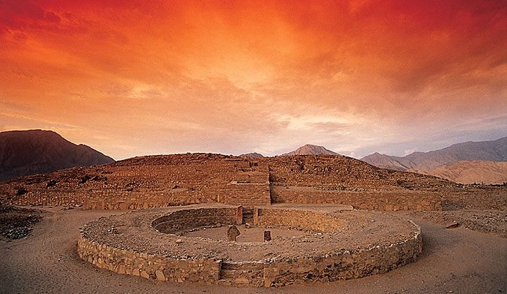 Caral 200 km from Lima