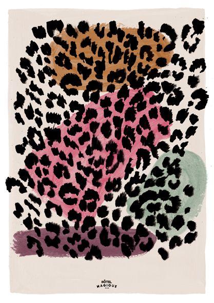 HOTEL MAGIQUE Leopard pattern art print.  Shop online HOTELMAGIQUE.COM