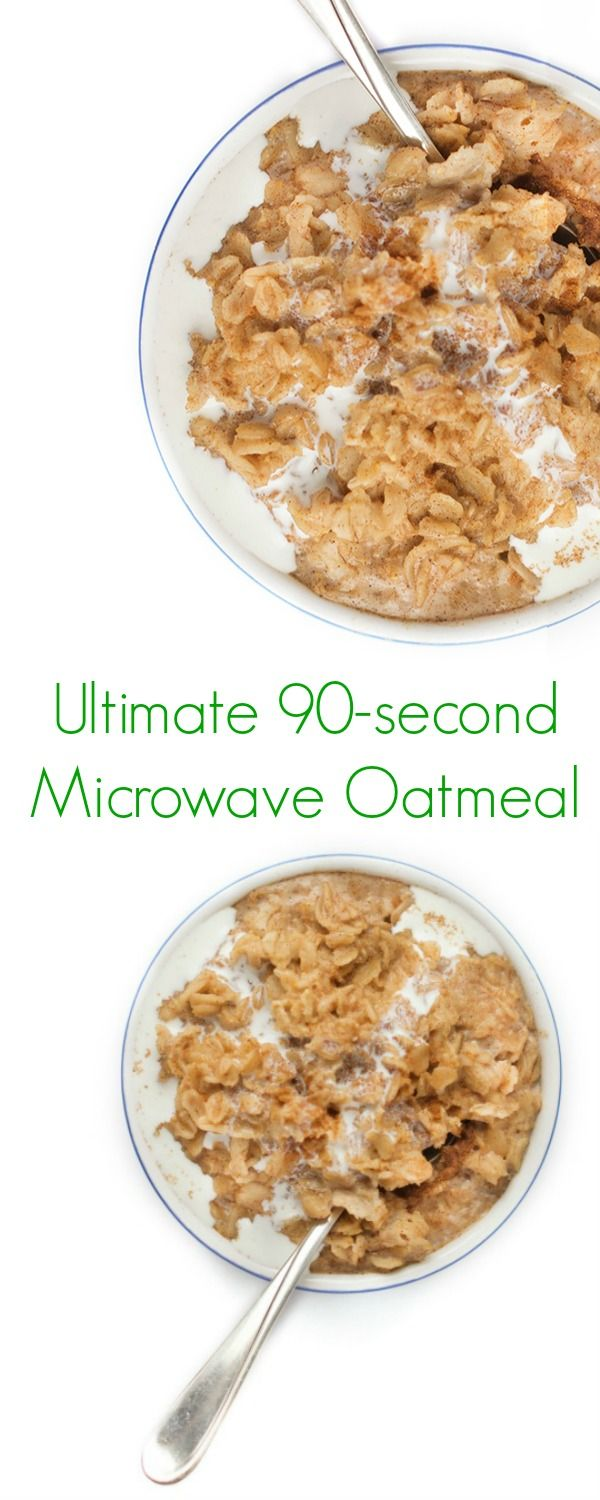 Microwaves, Oatmeal and Perfect breakfast on Pinterest