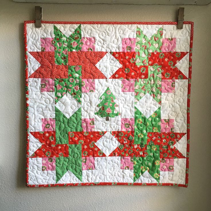 A Very Merry Wall Hanging - Christmas Quilt - Free Pattern - Appliqué - Quilt Block - Christmas