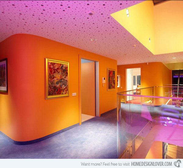orange walls Orange House in Ankara, Turkey