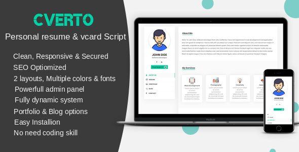 Cverto - Personal resume, #portfolio & #vcard script
