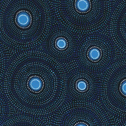 Robert Kaufman Fabrics: ETJ-6357-59 OCEAN from Native Arts