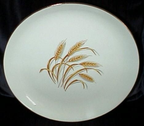 Golden Wheat by Homer Laughlin China  Description: Marked Alliance, Ohio  Golden Wheat was distributed in Duz detergent in the 1950s as a promotion. You could eventually get the whole set of dishes and the glassware, too. I have a cup and saucer in my collection.