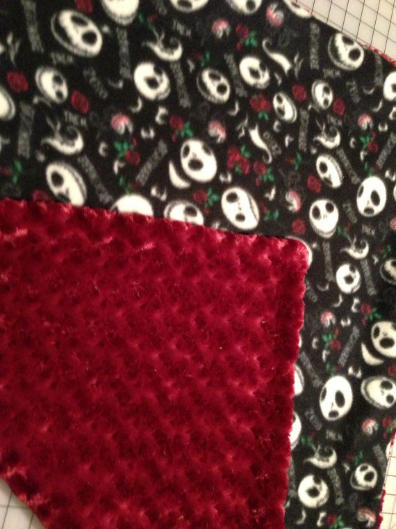 Handmade Baby Blanket Nightmare Before Christmas by InvisibleSeams, $22.00