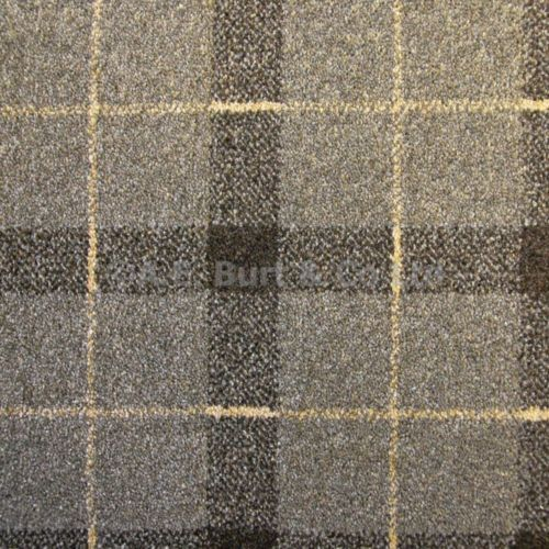 Sand Brown 07 Tartan Plaid Check Patterned Carpet 4m Wide