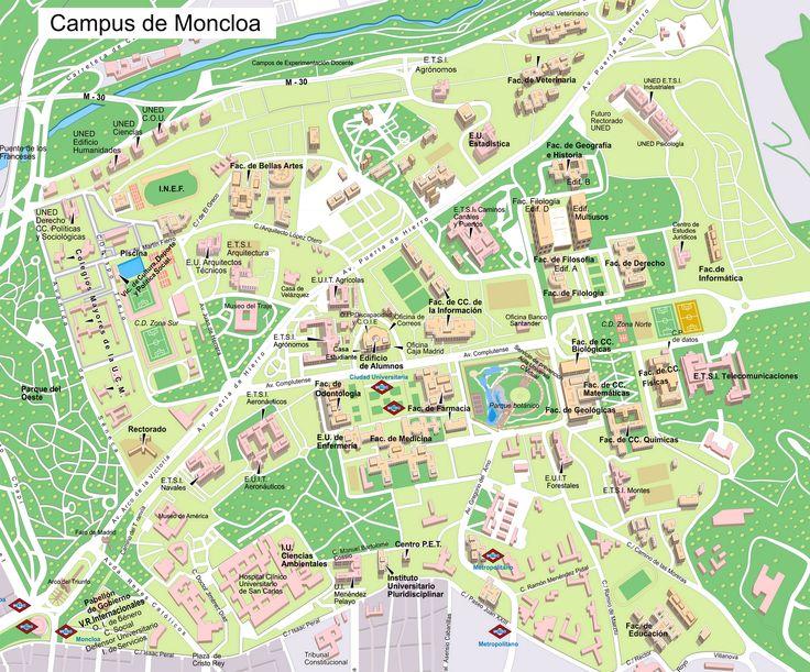 mapa universidad complutense, campus de moncloa/ciudad universitaria, 2008