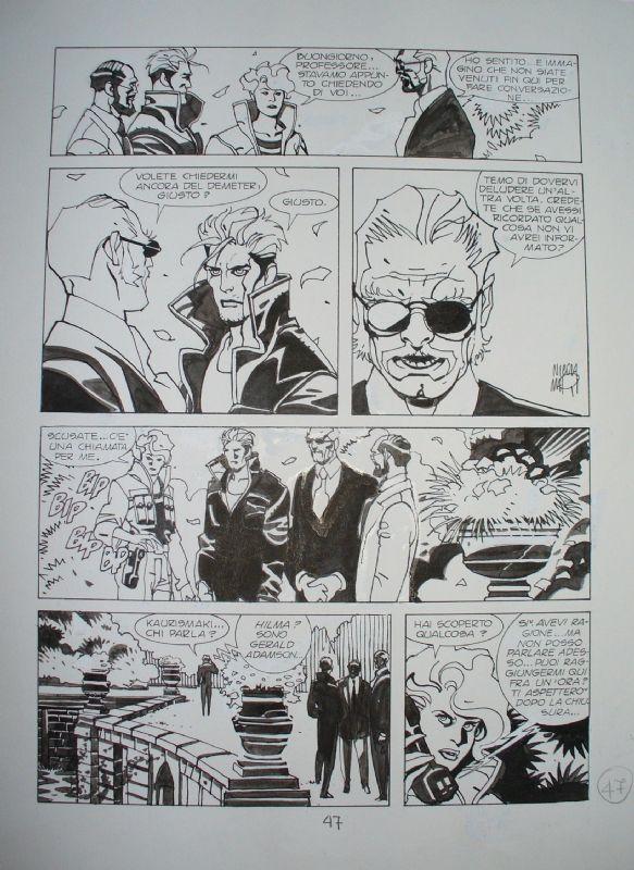 Nicola Mari - Page from Nathan Never #26 'Vampyrus' (1993) Comic Art
