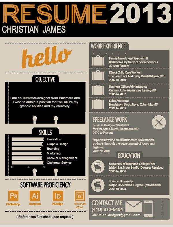 9 best inspiring creative resumes ever images on Pinterest - restaurant cashier job description resume