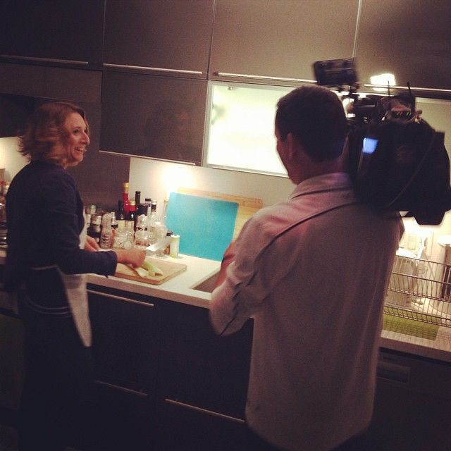 """On the """"set"""" of #dinnerpartyyvr for BC1 on @globalbc with @Annika Reinhardt"""