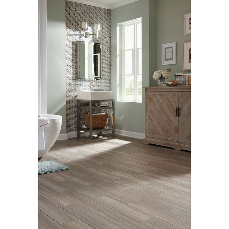 Shop STAINMASTER 6 In X 24 In Groutable Chateau/Light Gray Peel . Bathroom  FlooringEntryway FlooringLuxury Vinyl TileVinyl ...