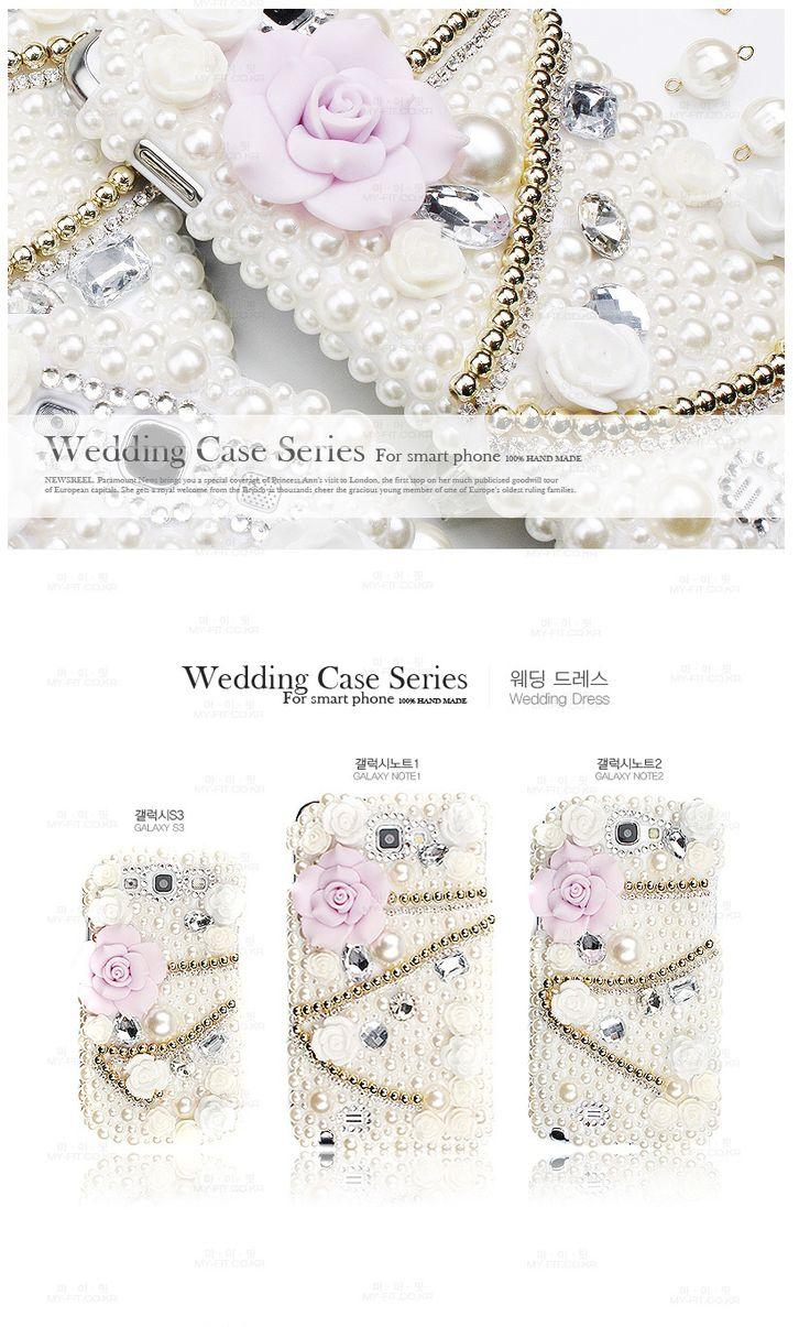 Wedding Cubic phonecase. 100% handmade. Style type wedding dress.