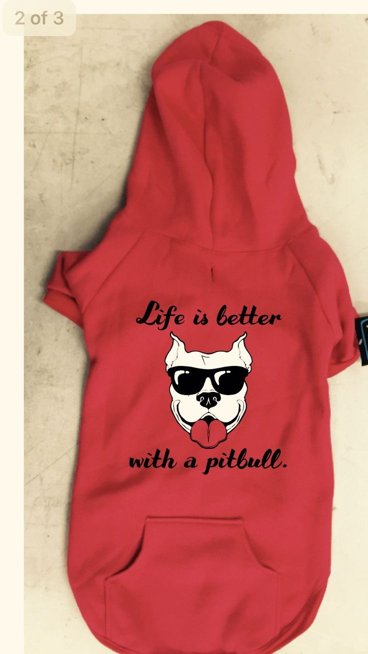 """""""Life Is Better With A Pitbull"""" Red Pitbull Dog Hoodie"""