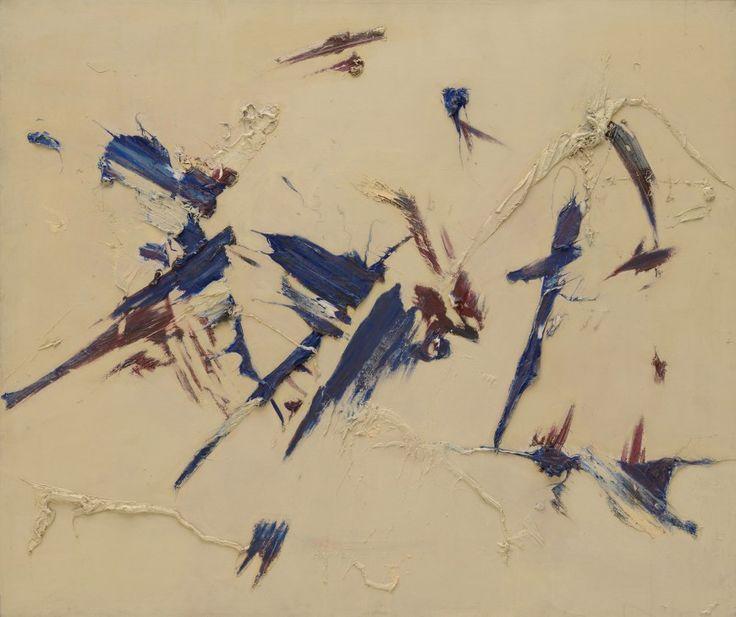 Judit Reigl, Outburst, 1956. Oil on canvas, 53 9/16 x 63 inches (136 x 160 cm)