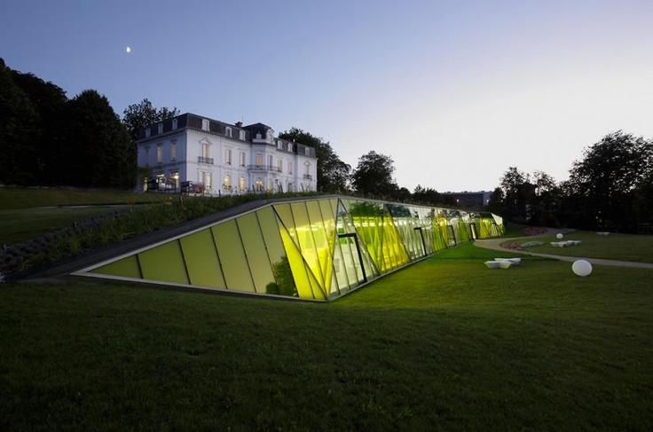 8yuh: Underground Architecture, Contemporary Architecture, Landscape Architecture, Wings, Architectssan Sebastianspain, Abadia Architectssan, Spanish Palaces, Aiet Parks, Amazing Architecture