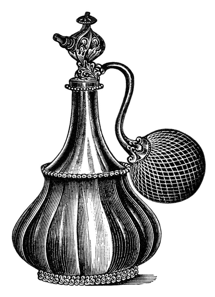 Vintage Atomizer Clip Art Black And White Clipart Old Fashioned Perfume Bottle Antique Beauty Product Image Free Graphic