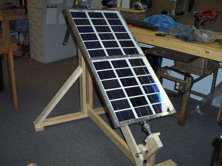 How i built an electricity producing solar panel self