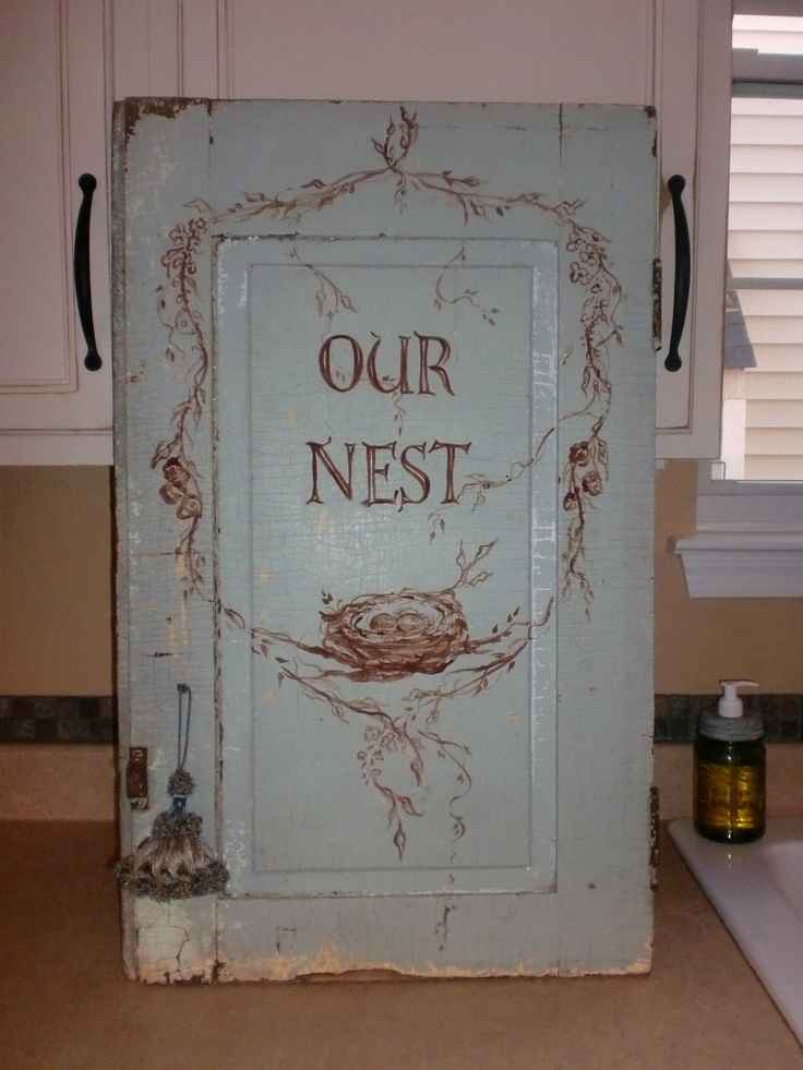 Nests cabinet door by Molly Strong