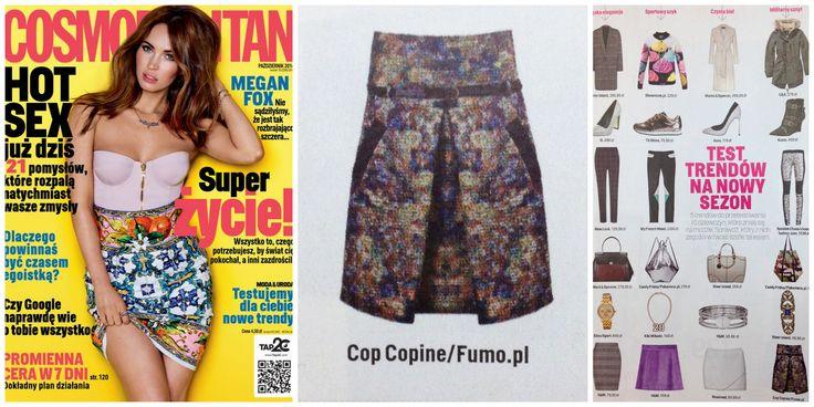 Spódnica Cop.Copine w październikowym Cosmopolitan