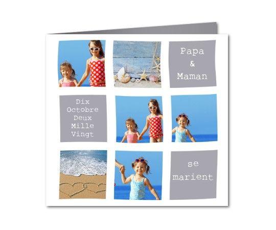 faire part mariage photos d enfants et plage